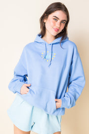 Daisy Street X Mocean Oversized Hoodie with Dolphin Print