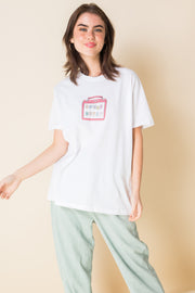 Daisy Street X Mocean Oversized T-Shirt with Lunch Date Print