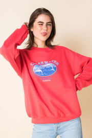 Daisy Street X Mocean Oversized Sweatshirt with Clearwater Tampa Bay Print