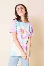 Daisy Street X Mocean Oversized Tie Dye T-Shirt with Self-Care Bear Print