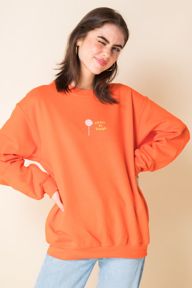 Daisy Street X Mocean Oversized Sweatshirt with Sweet as Sugar Print