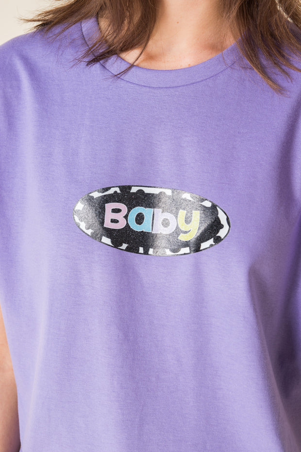 Daisy Street X Mocean Oversized T-Shirt with Baby Print