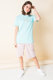 Daisy Street X Mocean Oversized T-Shirt with Angel Print