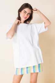 Daisy Street Relaxed T-Shirt with See The World Back Print