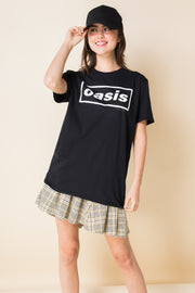 Daisy Street Relaxed T-Shirt with Oasis Print