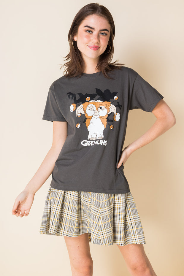 Daisy Street Relaxed T-Shirt with Gremlins Print