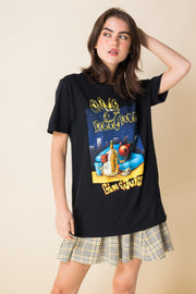 Daisy Street Relaxed T-Shirt with Snoop Dogg Gin and Juice Print