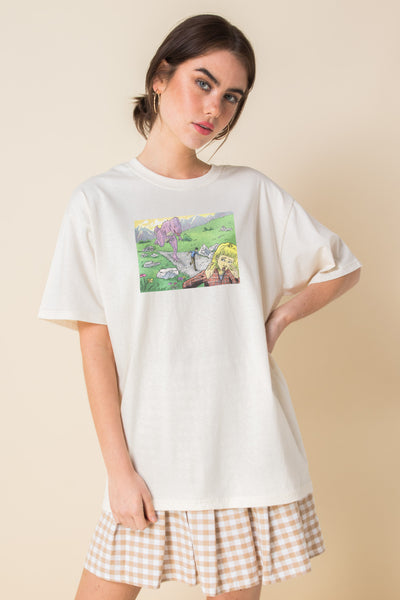 Daisy Street Relaxed T-Shirt with Dinosaur Print
