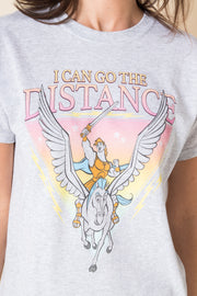 Daisy Street Relaxed T-Shirt with Hercules I Can Go the Distance Print