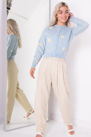 Daisy Street Cropped Cardigan in Daisy Knit