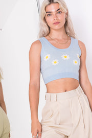 Daisy Street Crop Top in Daisy Knit