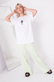 Daisy Street Relaxed T-Shirt with Virgo Print