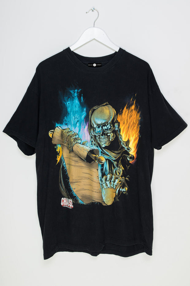 Daisy Street Vintage T-Shirt with Chaos Comic Print