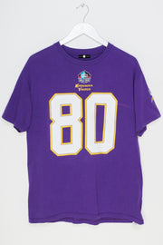 Daisy Street Vintage Team Apparel T-Shirt with Minnesota Vikings Carter Print