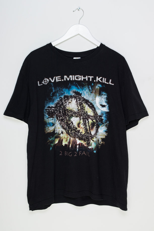 Daisy Street Vintage T-Shirt with Love Might Kill Print