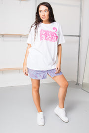 Daisy Street Relaxed T-Shirt with Retro Pink Floyd Print