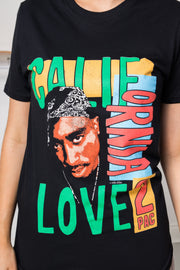 Daisy Street Relaxed T-Shirt with Tupac California Love Print