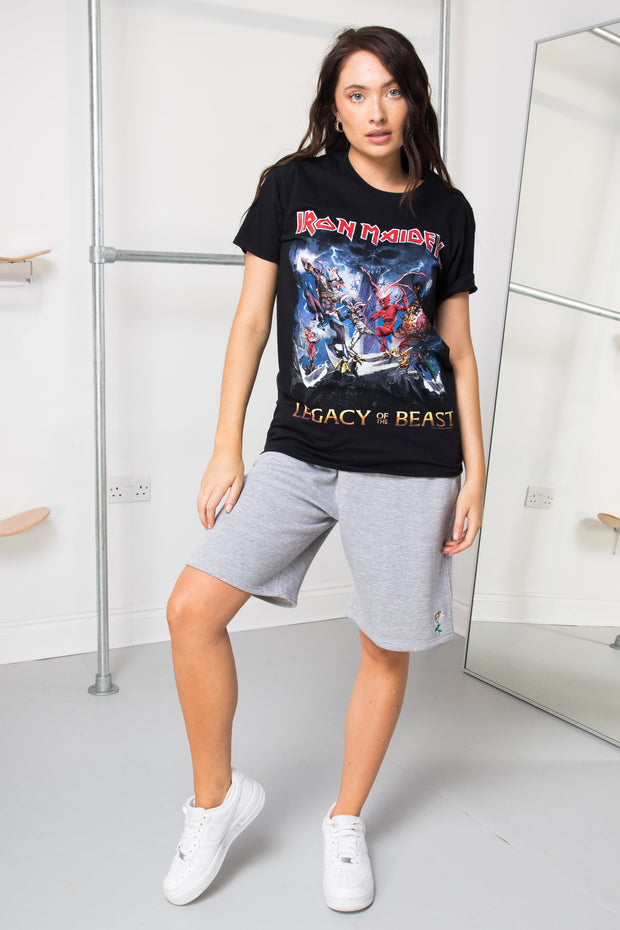 Daisy Street Relaxed T-Shirt with Iron Maiden Print