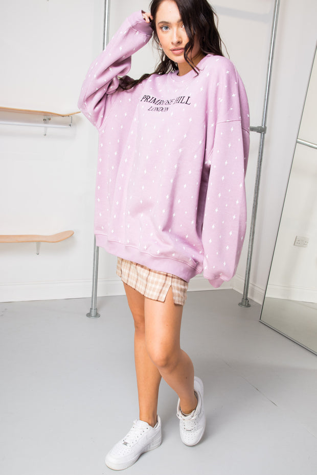 Daisy Street Oversized Sweat with Primrose Hill Embroidery