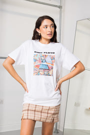 Daisy Street Relaxed T-Shirt with Pink Floyd Triangle Print