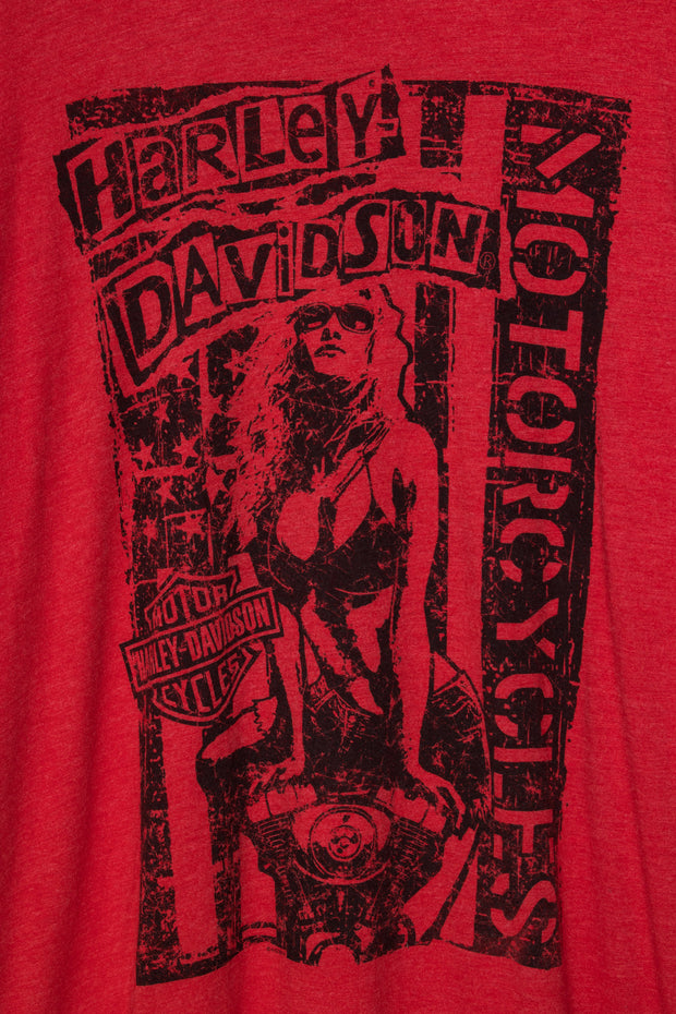 Daisy Street Vintage Harley Davidson T-Shirt with Santa Fe Front and Back Print