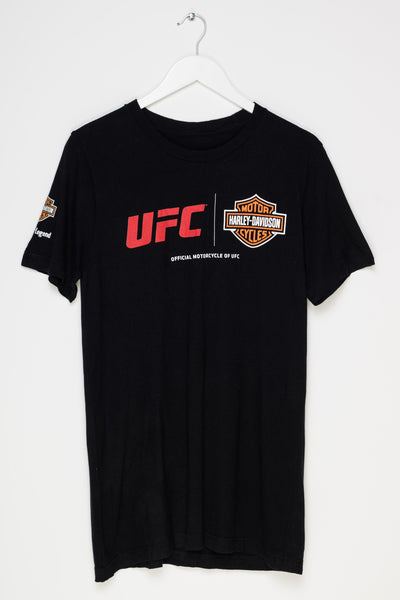 Daisy Street Vintage Harley Davidson T-Shirt with UFC Print