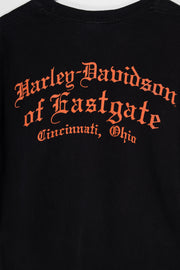 Daisy Street Vintage Harley Davidson T-Shirt with Eastgate Skull Print