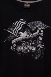 Daisy Street Vintage Harley Davidson T-Shirt with American Tradition Print
