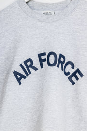 Daisy Street Vintage Cropped Sweatshirt with Air Force Print