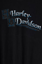 Daisy Street Vintage T-Shirt with Harley Davidson Nevada Front and Back Print