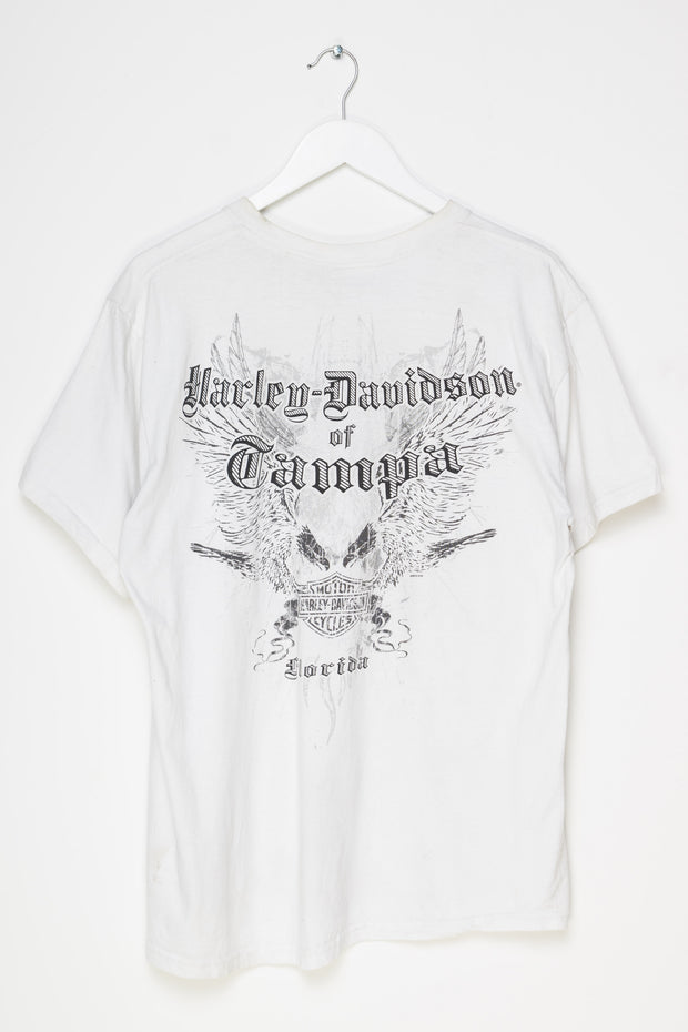 Daisy Street Vintage T-Shirt with Harley Davidson American Tradition Front and Back Print