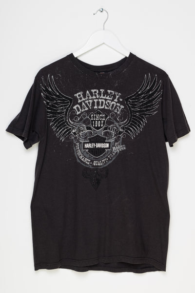 Daisy Street Vintage T-Shirt with Harley Davidson Arrowhead Front and Back Print