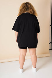 Daisy Street Curve Oversized T-Shirt with it Cost Nothing to be a Nice Person Print