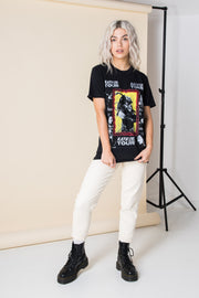 Daisy Street Relaxed T-Shirt with Bob Marley Kaya Tour Print