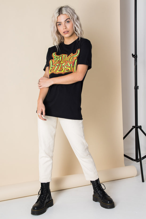 Daisy Street Relaxed T-Shirt with Billie Eilish Print
