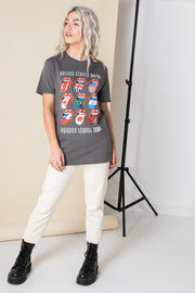 Daisy Street Relaxed T-Shirt with The Rolling Stones Print