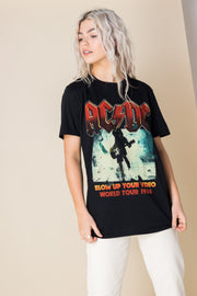 Daisy Street Relaxed T-Shirt with AC/DC Print