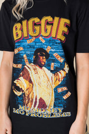 Daisy Street Relaxed T-Shirt with Biggie Smalls Money Print