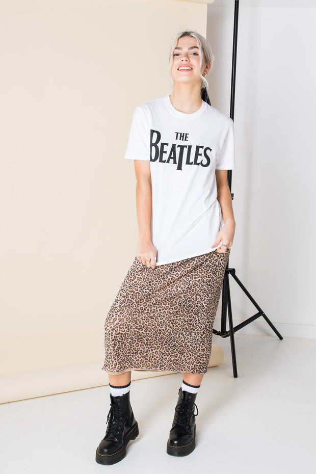 Daisy Street Relaxed T-Shirt with The Beatles Print