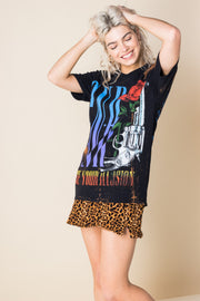 Daisy Street Vintage T-Shirt with Guns N' Roses Print