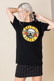Daisy Street Relaxed T-Shirt with Guns N' Roses Print