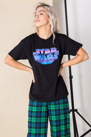 Daisy Street Relaxed T-Shirt with Star Wars Print