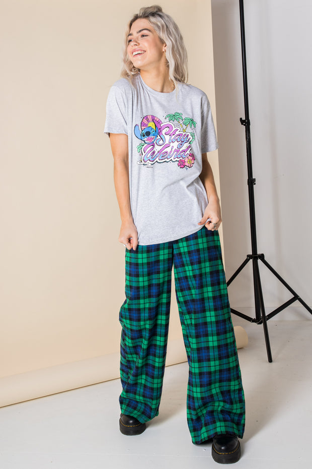 Daisy Street Relaxed T-Shirt with Lilo and Stitch Stay Weird Print