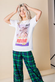 Daisy Street Relaxed T-Shirt with Japanese Style Print