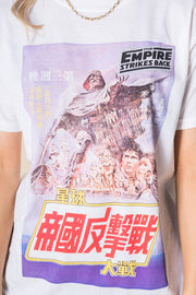 Daisy Street Relaxed T-Shirt with Star Wars Japanese Print