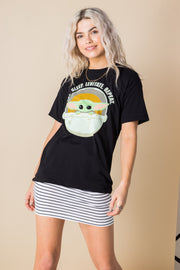 Daisy Street Relaxed T-Shirt with Star Wars Mandalorian Print