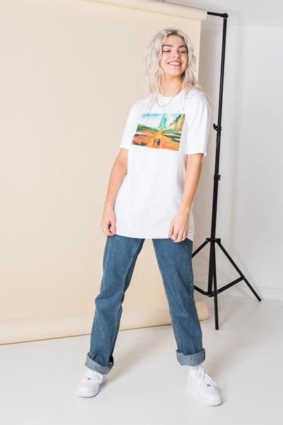Daisy Street Relaxed T-Shirt with Wizard of Oz Print
