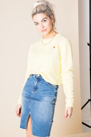 Daisy Street Knitted Jumper with Cherry Detail