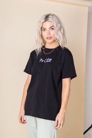 Heartbreak Oversized T-Shirt with No Chill Print