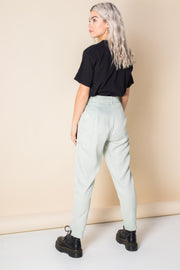 Heartbreak Tailored Peg Leg Trousers in Gingham